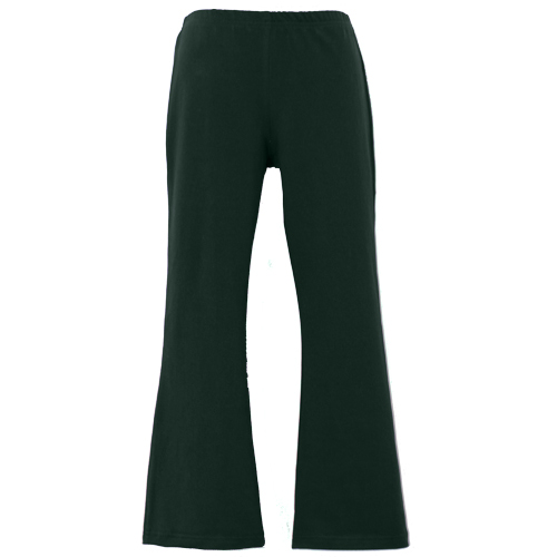 Bottle Green Girls School Bootleg Pants