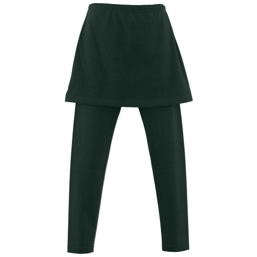 Bottle Green Girls Skeggings