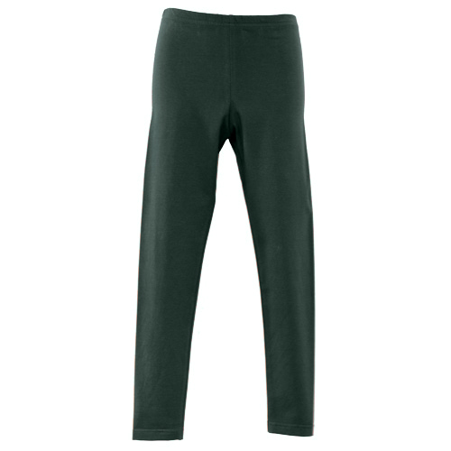 Bottle Green Girls School Leggings