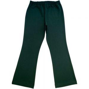 Bottle Green Girls School Bootleg Pants