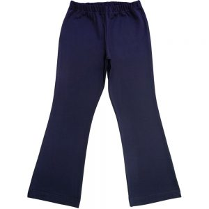 Navy Blue Girls School Bootleg Pants