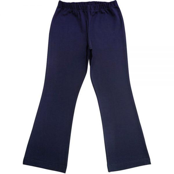 Navy Blue Girls School Bootleg Pants